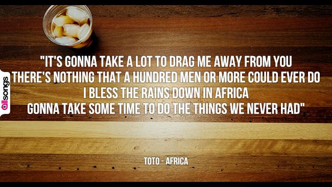 Toto: le migliori frasi dei testi delle canzoni
