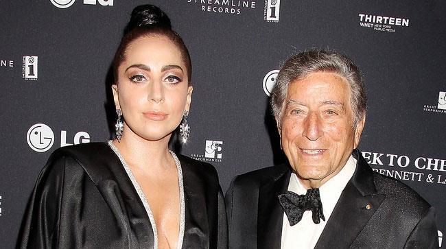 Tont Bennett e Lady Gaga alla presentazione del nuovo album