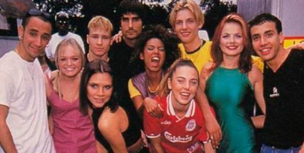 Backstreet Boys e Spice Girls insieme negli anni '90