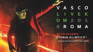 Il manifesto del Live Kom 2016 di Vasco Rossi