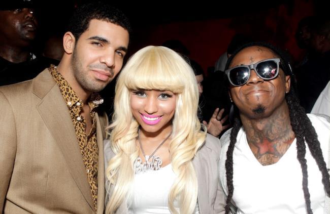 Nicki Minaj con Drake e Lil Wayne