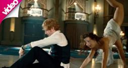 Una scena del video di Thinking Out Loud