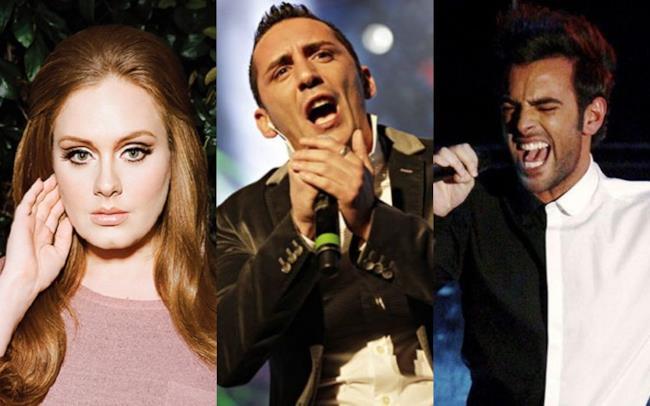Adele, Kekko dei Modà e Marco Mengoni