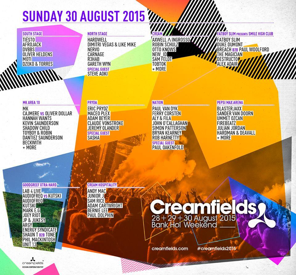 Creamfields 2015 Sunday