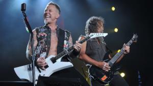 James Hetfield e Kirk Hammett dei Metallica