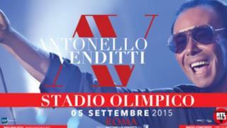Locandina Antonello Venditti 5 settembre 2015 a Roma