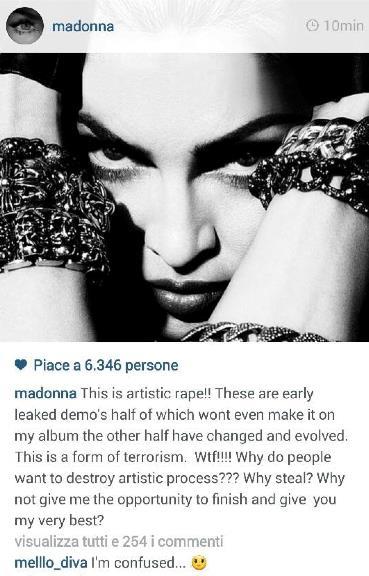 Il commento di Madonna su Instagram dopo il leak dell'album Iconic