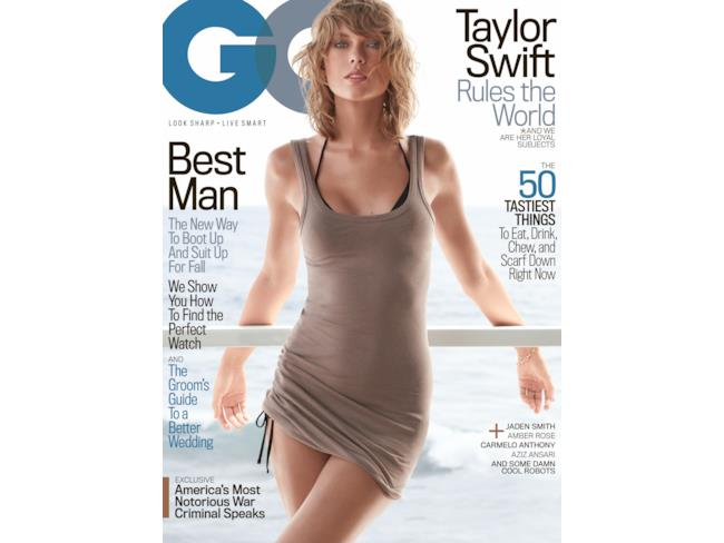 Taylor Swift in prima pagina per GQ