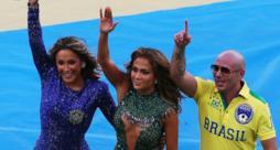 Jennifer Lopez e Pitbull alla cerimonia di apertura dei Mondiali 2014
