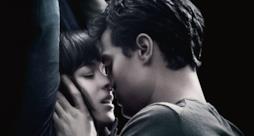Jamie Dornan e Dakota Johnson nel poster di 50 Sfumature di Grigio