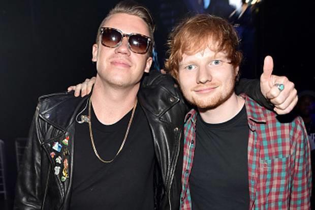 Il rapper americano Macklemore con Ed Sheeran
