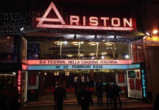 Sanremo 2014 entrata Teatro Ariston