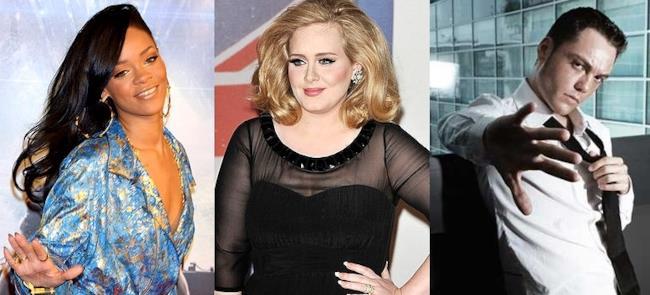 Rihanna Adele Tiziano Ferro