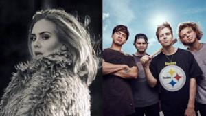 Classifica Italia 5 novembre 2015, Adele e 5SOS in vetta