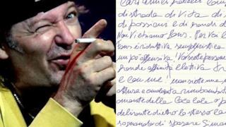 Vasco Rossi, da Facebook una lettera manoscritta ai fan