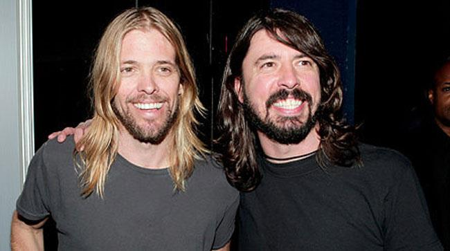 Taylor Hawkins e Dave Grohl dei Foo Fighters