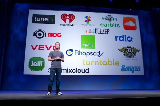 Zuckerberg e i music partner di Facebook
