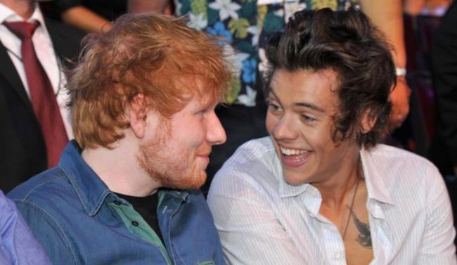 Ed Sheeran insieme a Harry Styles degli One Direction
