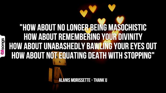 Alanis Morissette: le migliori frasi dei testi delle canzoni