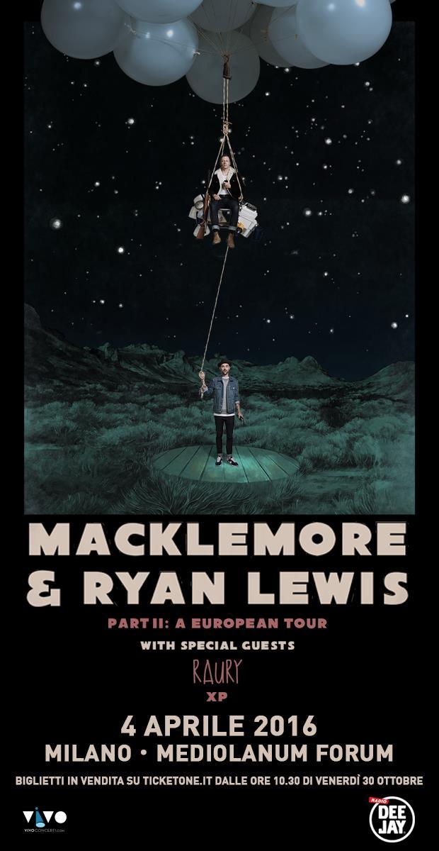 Locandina di Part II: A European Tour, il tour di Macklemore & Ryan Lewis