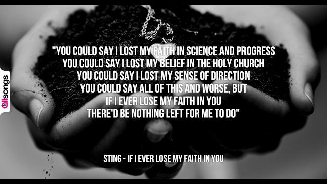 Sting: le migliori frasi dei testi delle canzoni