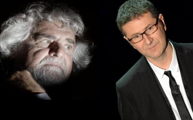 Beppe Grillo e Fabio Fazio