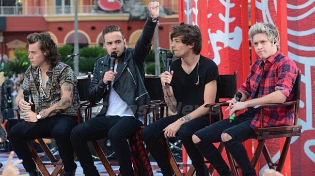 Gli One Direction al Today Show nel 2014