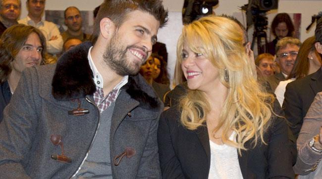 Shakira e il compagno Gerard Piqué