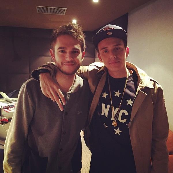 Il rapper Logic e il DJ Zedd in studio per collaborare ad un nuovo singolo.