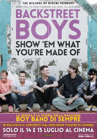 La locandina del docu-film dei Backstreet Boys
