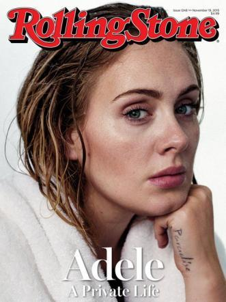 Adele in copertina senza trucchi su Rolling Stone