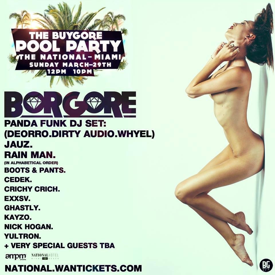 La line up completa del Buygore Pool Party a cui parteciperà anche Rain Man