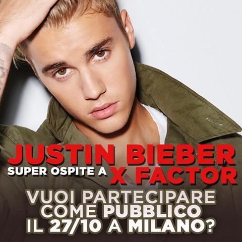 Justin Bieber a X Factor Italia, come partecipare come pubblico
