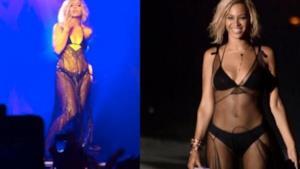 Lily Allen vestita come Beyoncé: omaggio o parodia?