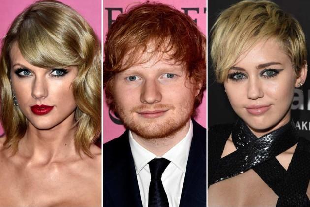 Taylor Swift, Ed Sheeran e Miley Cyrus ai Grammy Awards 2015