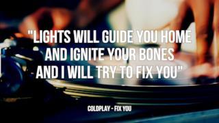 Coldplay: le migliori frasi dei testi delle canzoni