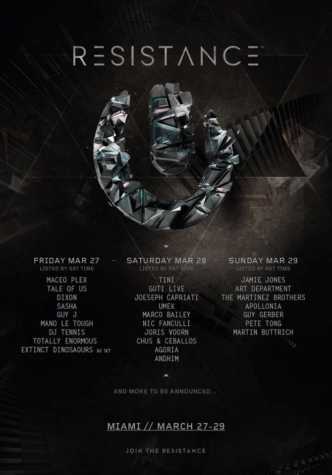 La line up annunciata dall'Ultra Music Festival per sponsorizzare la scena Underground
