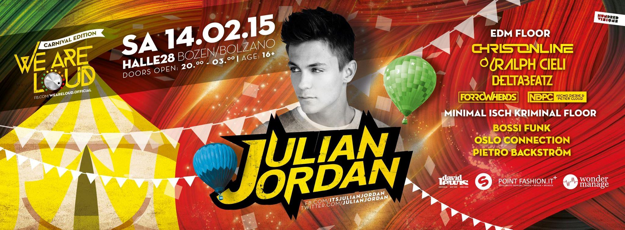 Julian Jordan arriva in Italia