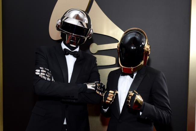i Daft Punk durante una premiezione