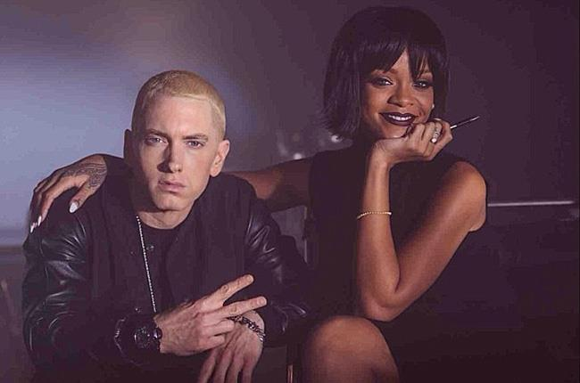 Eminem e Rihanna sul set di The Monster