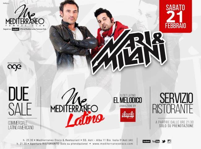 Il duo Nari & Milani si esibirà nel locale piemontese Mediterraneo