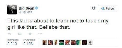 Il tweet di Big Sean contro Justin Bieber