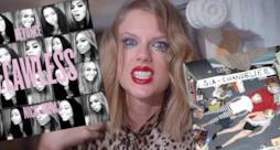 Taylor Swift con le copertine di Beyoncé e Sia