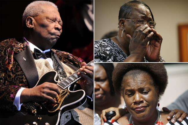 B.B. King e le figlie Karen Williams e Patty King