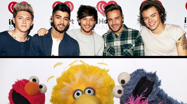 One Direction e i muppets di Sesame Street