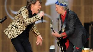 Mick Jagger e Keith Richards sul palco