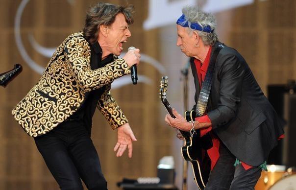 Mick Jagger e Keith Richards sul palco