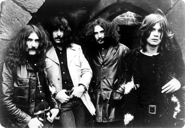 I Black Sabbath nel 1970 con i componenti storici