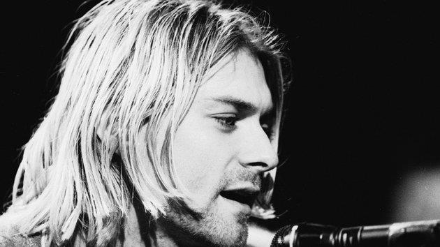 Kurt Cobain foto in bianco e nero