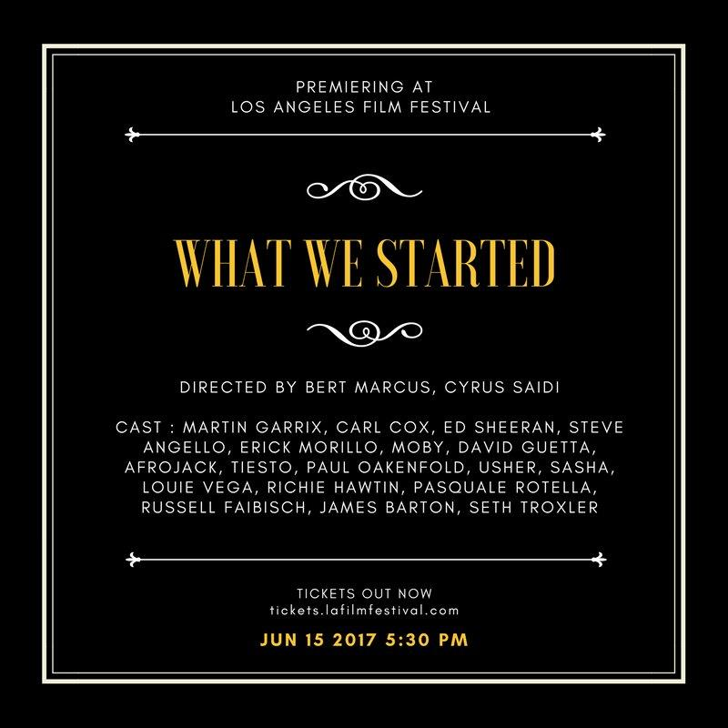 What We Started Premiere